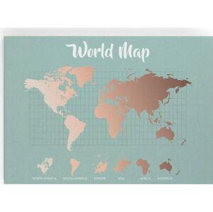 Obraz Really Nice Things Copper Worldmap, 50x70cm