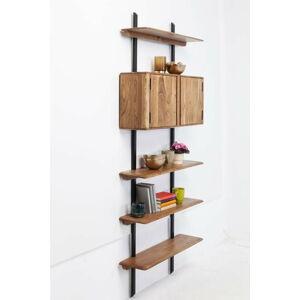 Nástěnná police zakáciového dřeva Kare Design Brooklyn, výška 178cm