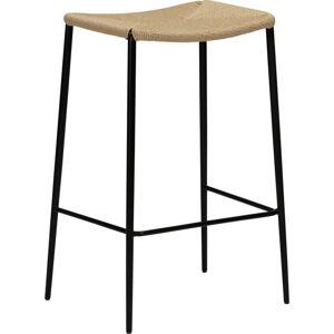 Béžová barová židle DAN-FORM Denmark Stiletto, výška 78 cm
