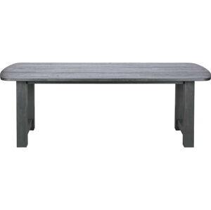Černý jídelní stůl z dubového dřeva BePureHome Identity, 220x90cm