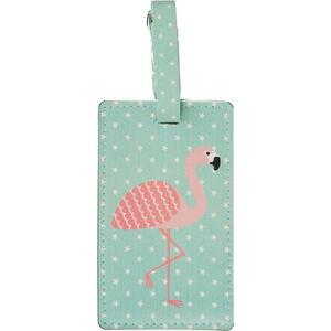 Modrá visačka na kufr Sass & Belle Flamingo