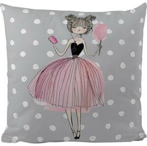 Bavlněný dětský polštář Mr. Little Fox Pink Girl, 45 x 45 cm