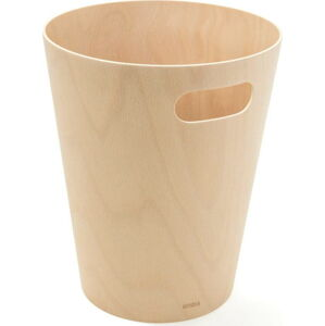 Béžový odpadkový koš Umbra Woodrow, 7,5l