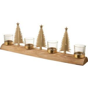 Dřevěný vánoční svícen J-Line Natural