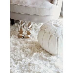Bílý vlněný koberec Royal Dream Pure Light,150x200cm