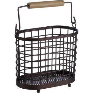 Železný stojan se dřevěným úchytem na kuchyňské nástroje Premier Housewares