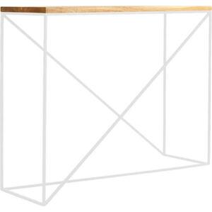 Konzolový stolek z dubového dřeva Custom Form Memo, výška 75 cm