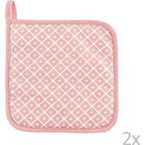 Sada 2 růžových bavlněných chňapek Tiseco Home Studio Dot
