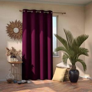 Tmavě fialový zatemňovací závěs AmeliaHome Eyelets Plum, 140 x 245 cm