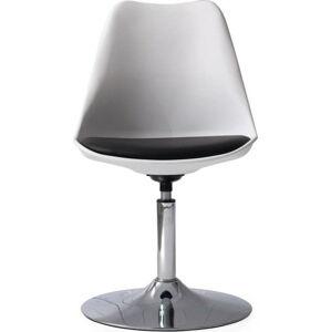 Bílá jídelní židle s černým podsedákem Tenzo Tequila