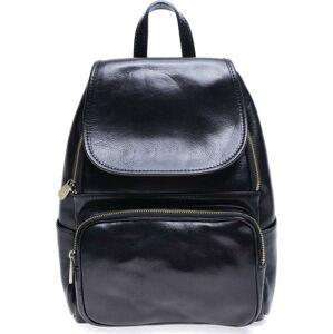 Černý kožený batoh Roberta M