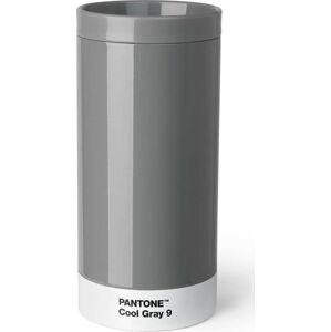 Šedý cestovní hrnek znerezové oceli Pantone, 430ml