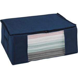 Modrý vakuový úložný box Wenko Air, 50 x 65 x 25 cm