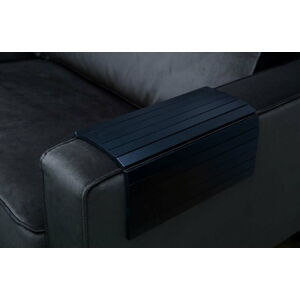 Černá flexibilní dřevěná područka na pohovku WOOOD Tray XL