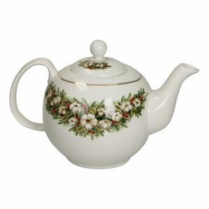 Porcelánová konvice na čaj s vánočním motivem Brandani Teiera Batuffoli
